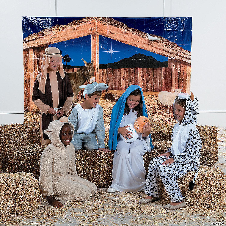 Christmas Scene Setters Australia.Stable Scene Backdrop