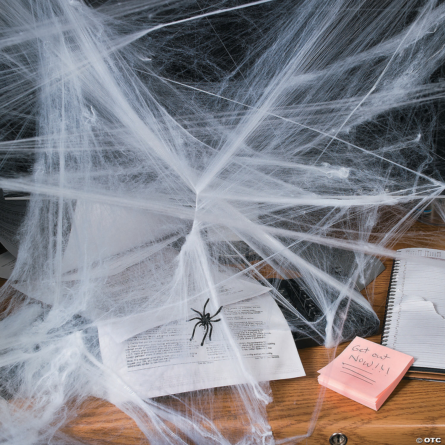 Spider Web With Spiders Halloween Decoration Stretchy Cobweb
