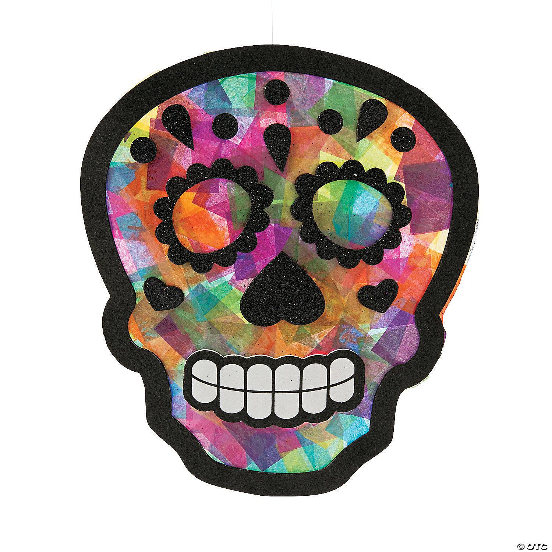 Sugar Skull Tissue Paper Sign Craft Kit Oriental Trading