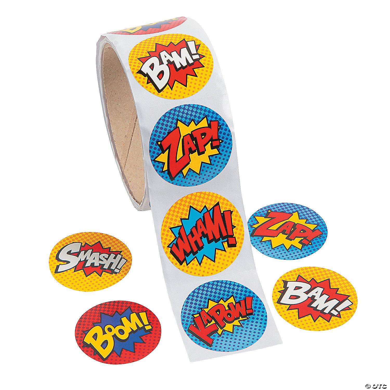 Superhero Stickers Oriental Trading