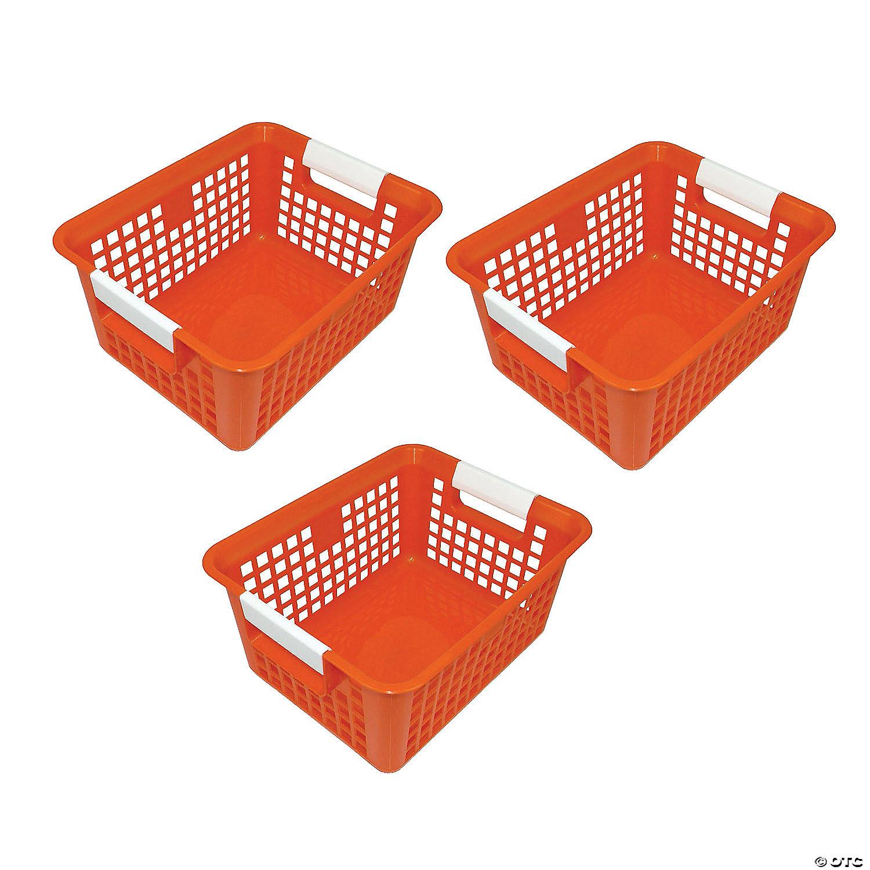 Picture of: Tattle Book Basket Orange Set Of 3 Oriental Trading