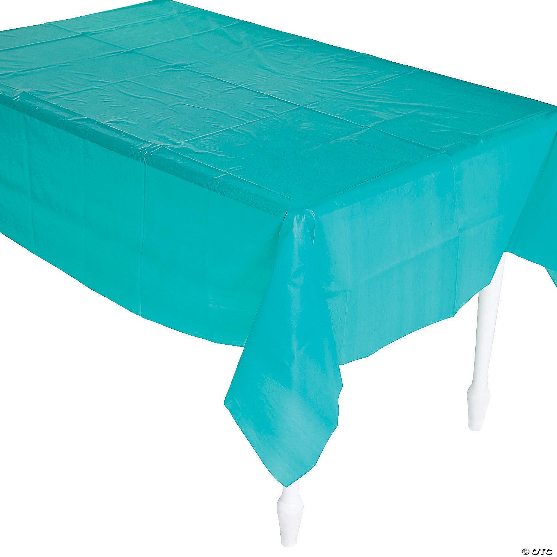 Teal Lagoon Tablecloth Oriental Trading