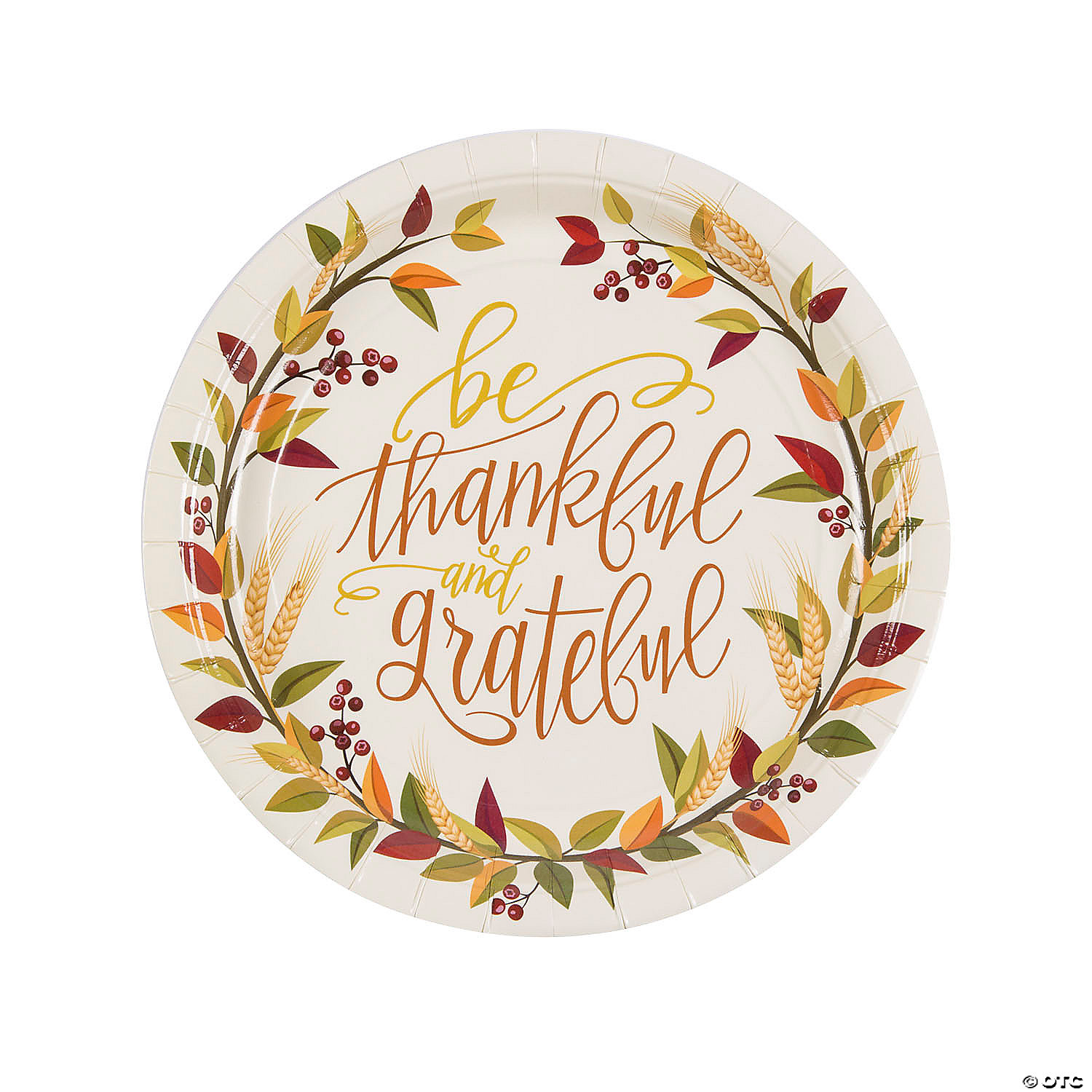 Thankful Paper Dinner Plates 8 Ct Oriental Trading