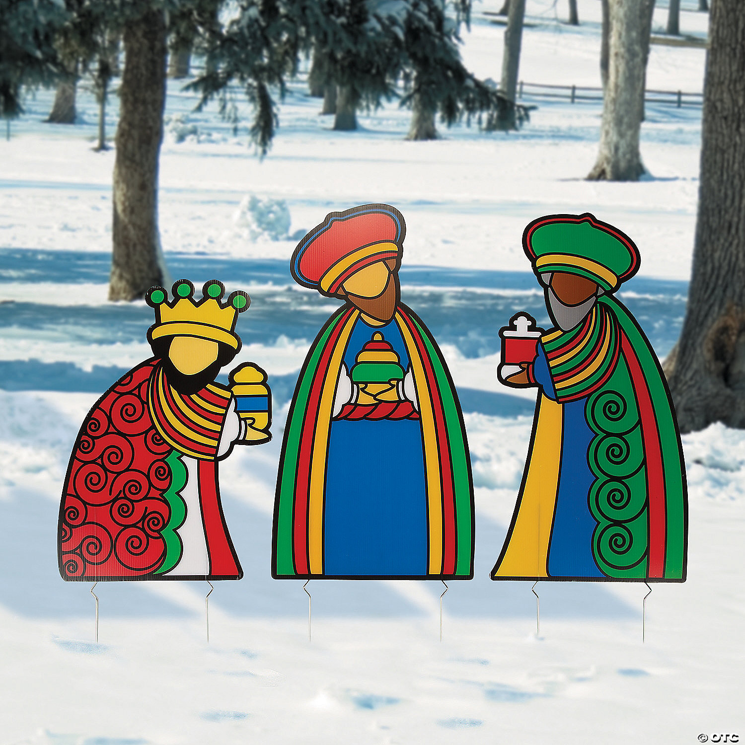 three wise men outdoor yard stakes~13911280