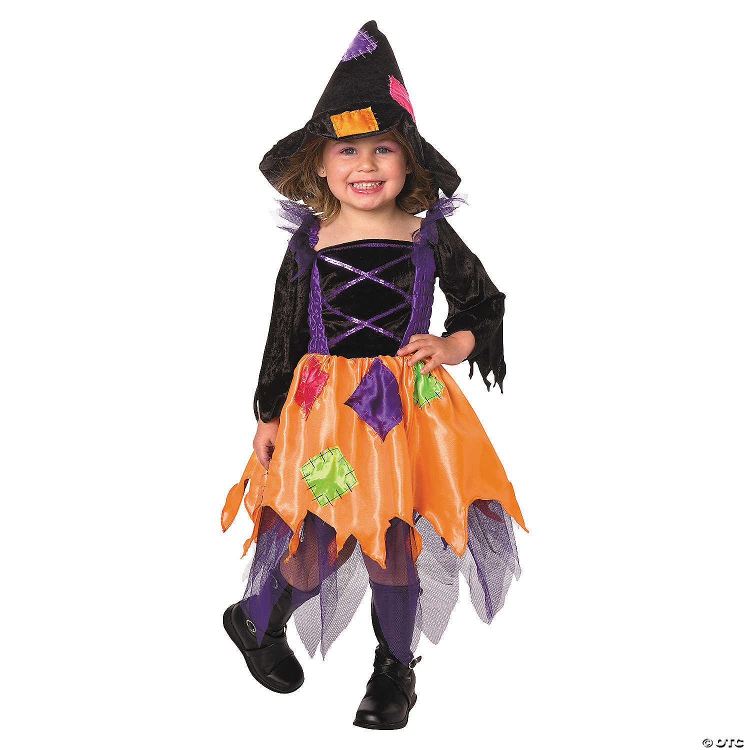 Toddler Girl S Patchwork Witch Costume 2t 4t Oriental Trading