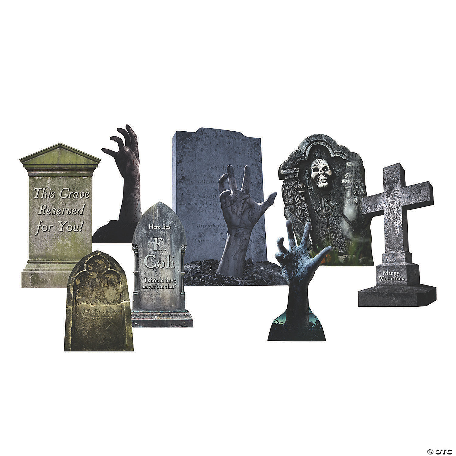 Tombstone & Zombies Yard Signs