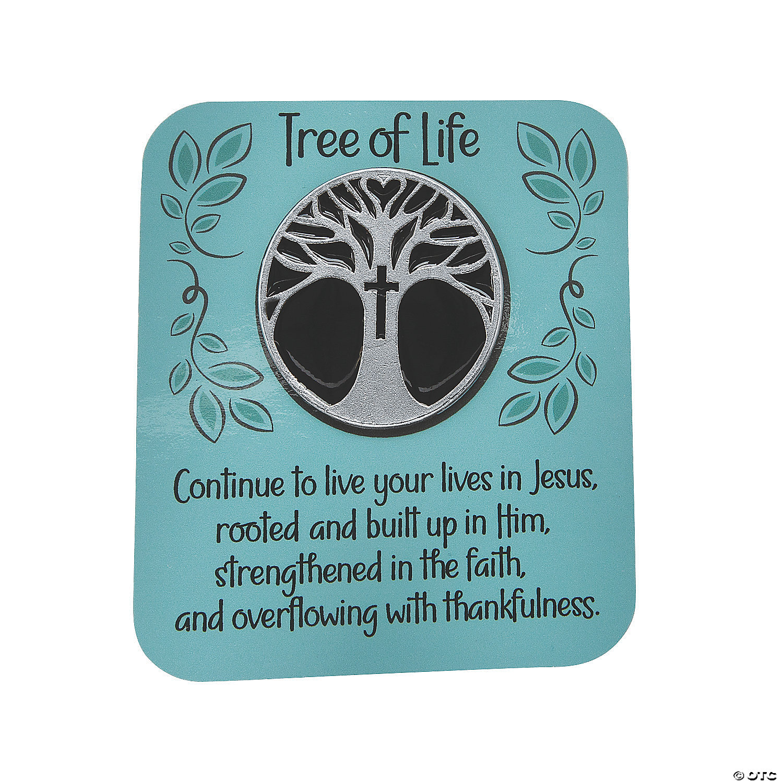 Tree of Life Pin Sustainably Harvested Walnut Hat Pin 1.25