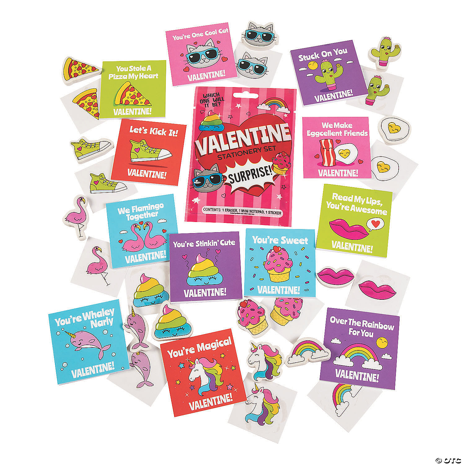 Valentine Stationery Set Surprise Blind Bags Discontinued