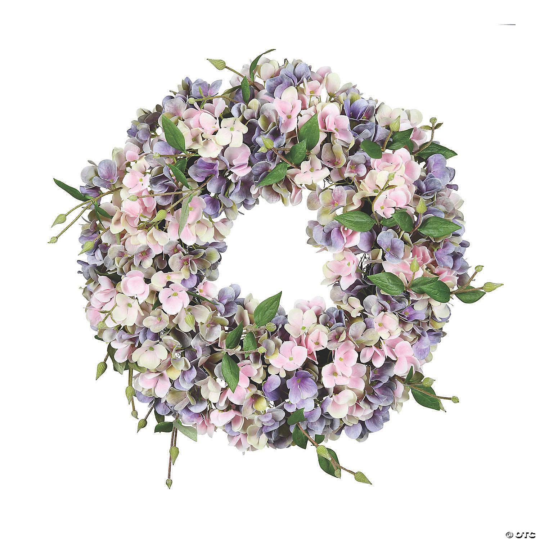 Mini Ceramic Floral Wreath with Blah Blah Blah Banner and Pastel Powder Blue Roses