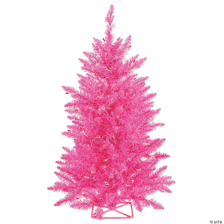Vickerman 3 Hot Pink Christmas Tree With Pink Lights