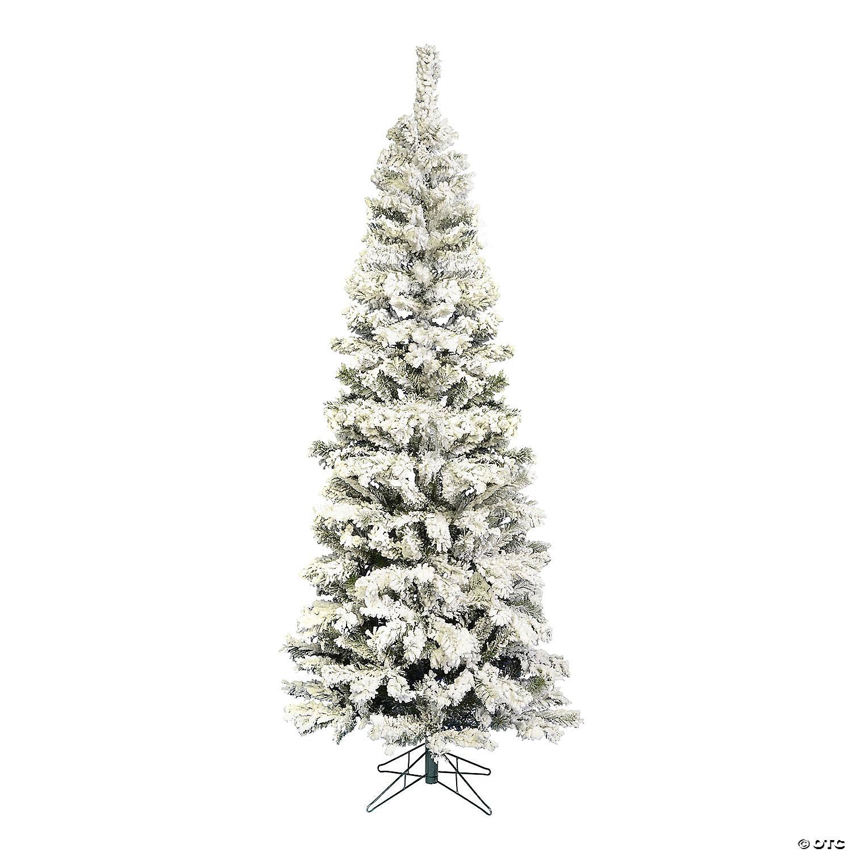 Vickerman 4 5 Flocked Pacific Pencil Artificial Christmas Tree Unlit