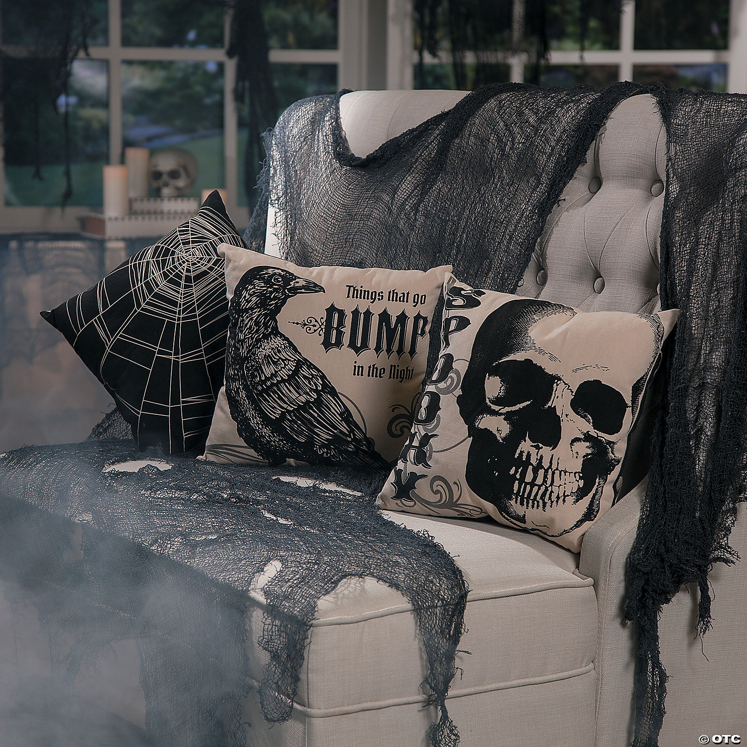 Vintage Throw Pillows Halloween Decorations