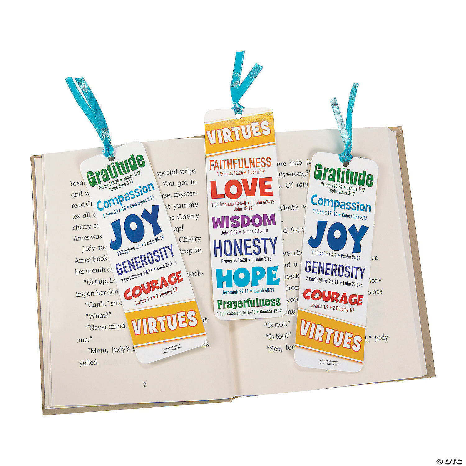 12 Virtues virtues bookmarks for kids