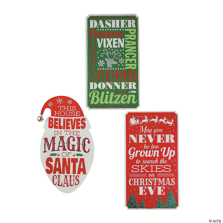 Whimsical Christmas Wall Signs
