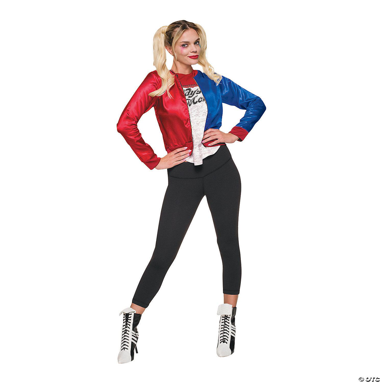Harlequin Costume Quinn Costume Harley Costume RedBlue Costume