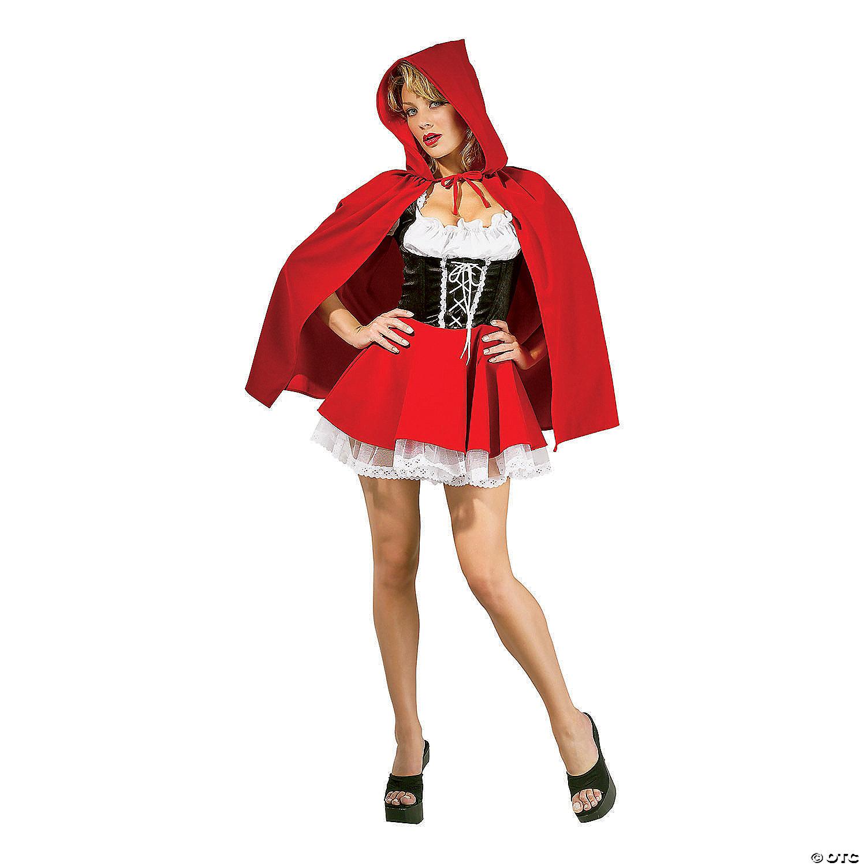Halloween 2020 Little Red Riding Hood Costume Women's Red Riding Hood Costume | Oriental Trading