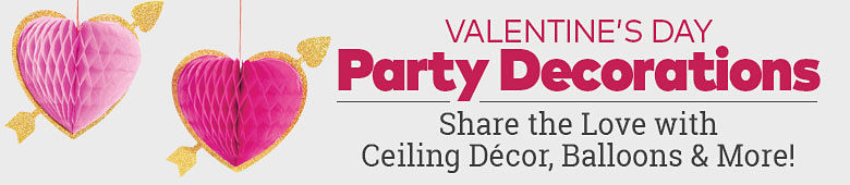 Valentine's Day Party Decorations. Share the love with ceiling