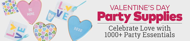 Valentine's Day Party Supplies. Celebrate love with 1000 plus party essentials
