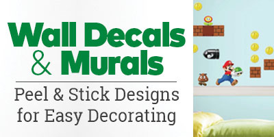 Wall Decals and Murals. Peel and stick designs for easy decorating