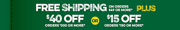 Free Shipping + up to $40 off