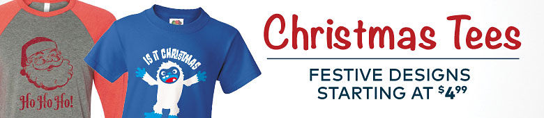 Christmas Tees - Styles Starting at $4.99