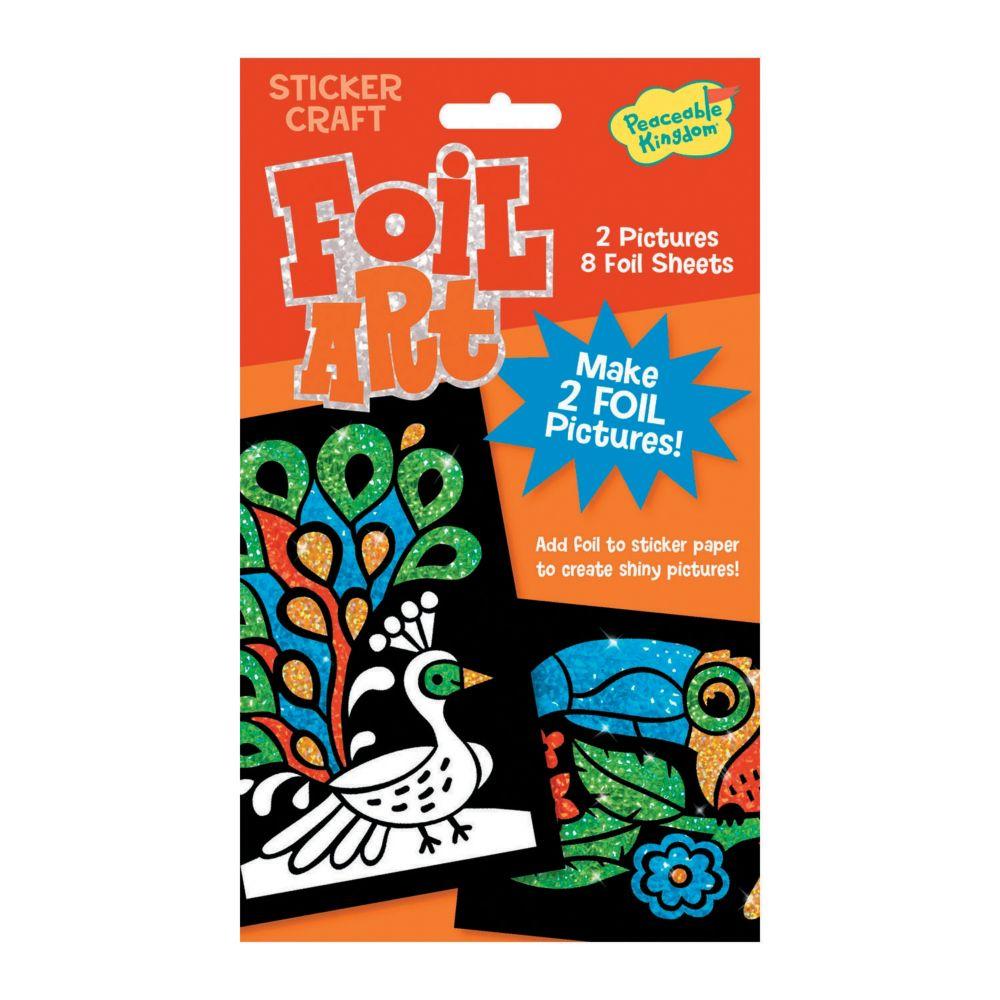 Birds Foil Art Sticker Pack From MindWare