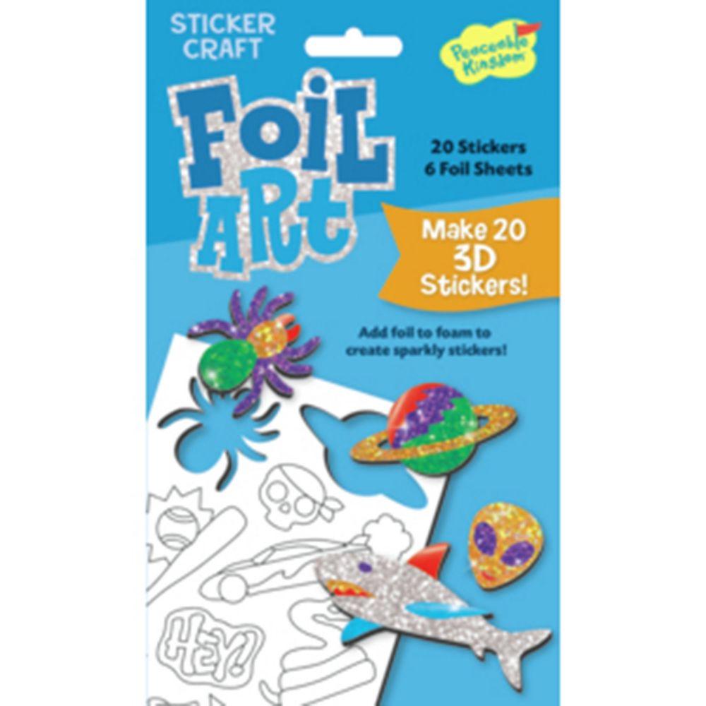 Boy Foil Art Sticker Pack From MindWare