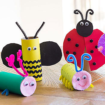 Colorful Craft Roll Bugs