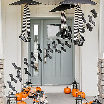Cutesy Halloween Front Porch Ideas
