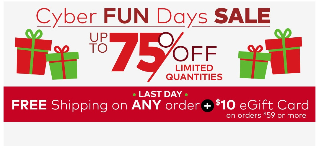 Cyber FUN Days Sale