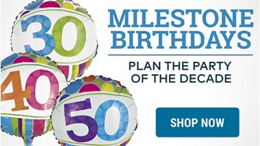 Milestone Birthdays Plan The Party Of Decade Shop Now