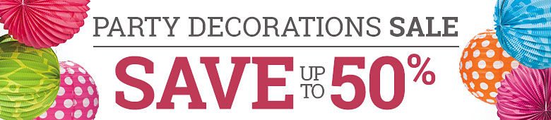 Party Decorations Sale. Save up to 50%