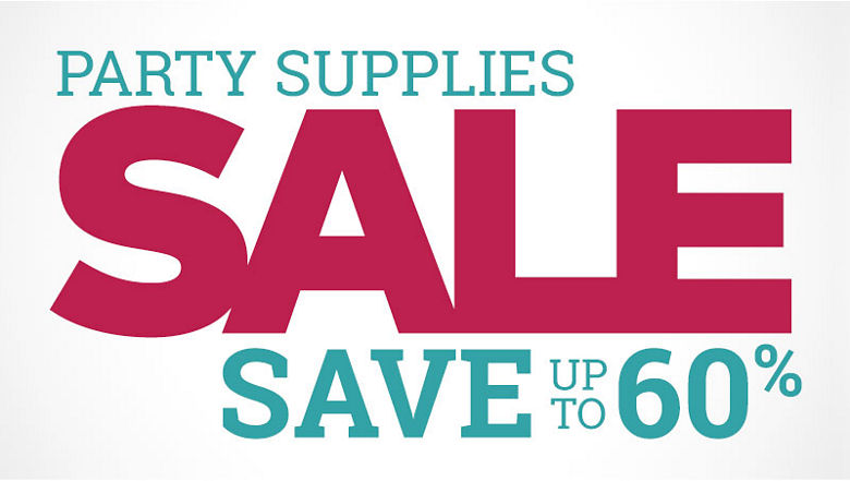 Party Supplies Sale - Save up to 60%