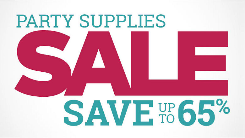 Party Supplies Sale - Save up to 65%