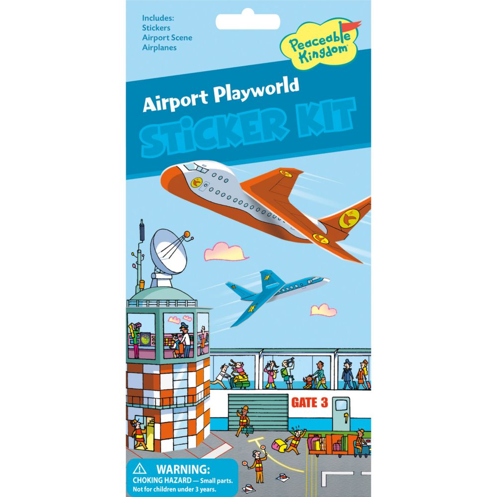 Airport Playworld Quick Sticker Kit From MindWare