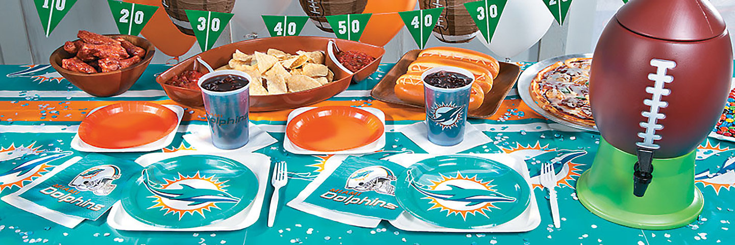 Miami Dolphins Tailgate & Party Supplies | OrientalTrading