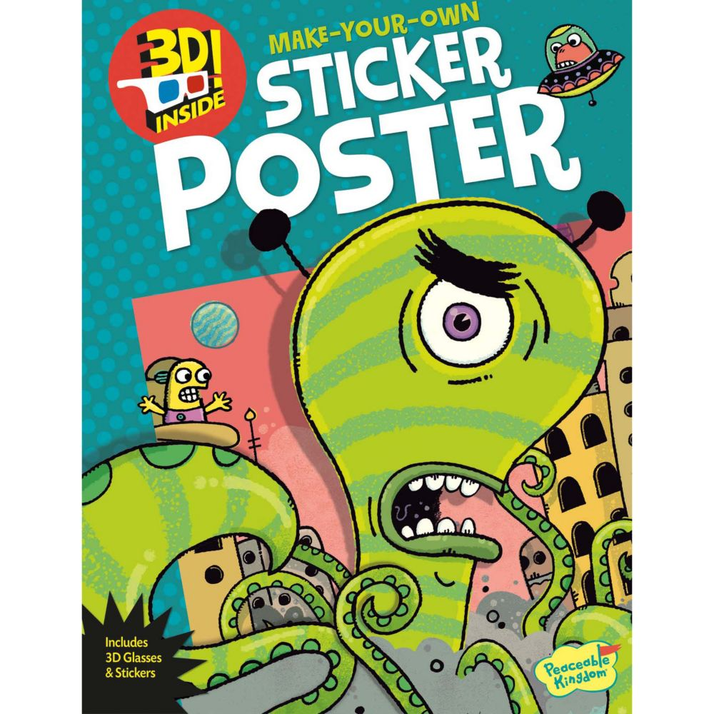 Alien Attack! 3D Poster Sticker Activity Book From MindWare