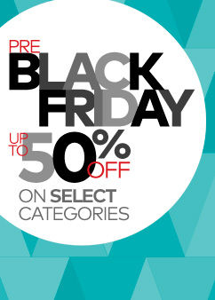 Pre-Black Friday! Up to 50% Off Select Categories