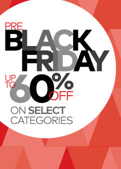 Pre-Black Friday! Up to 60% Off Select Categories