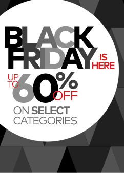 Black Friday! Up to 60% Off Select Categories