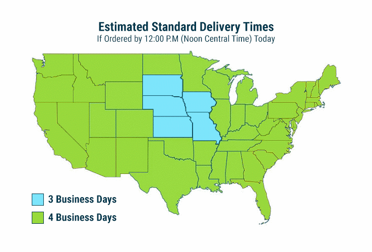 Estimated Standard Delivery Times