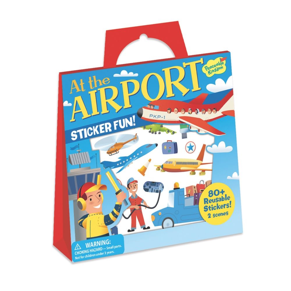 At The Airport Reusable Sticker Tote From MindWare