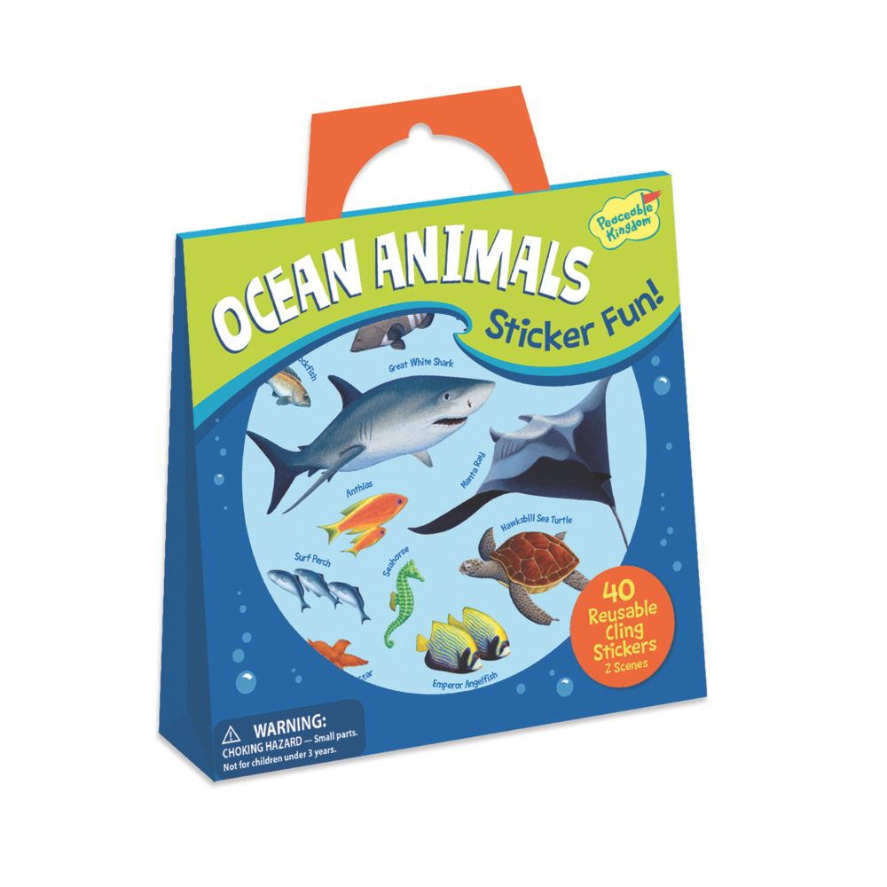 Ocean Animals Reusable Sticker Tote From MindWare