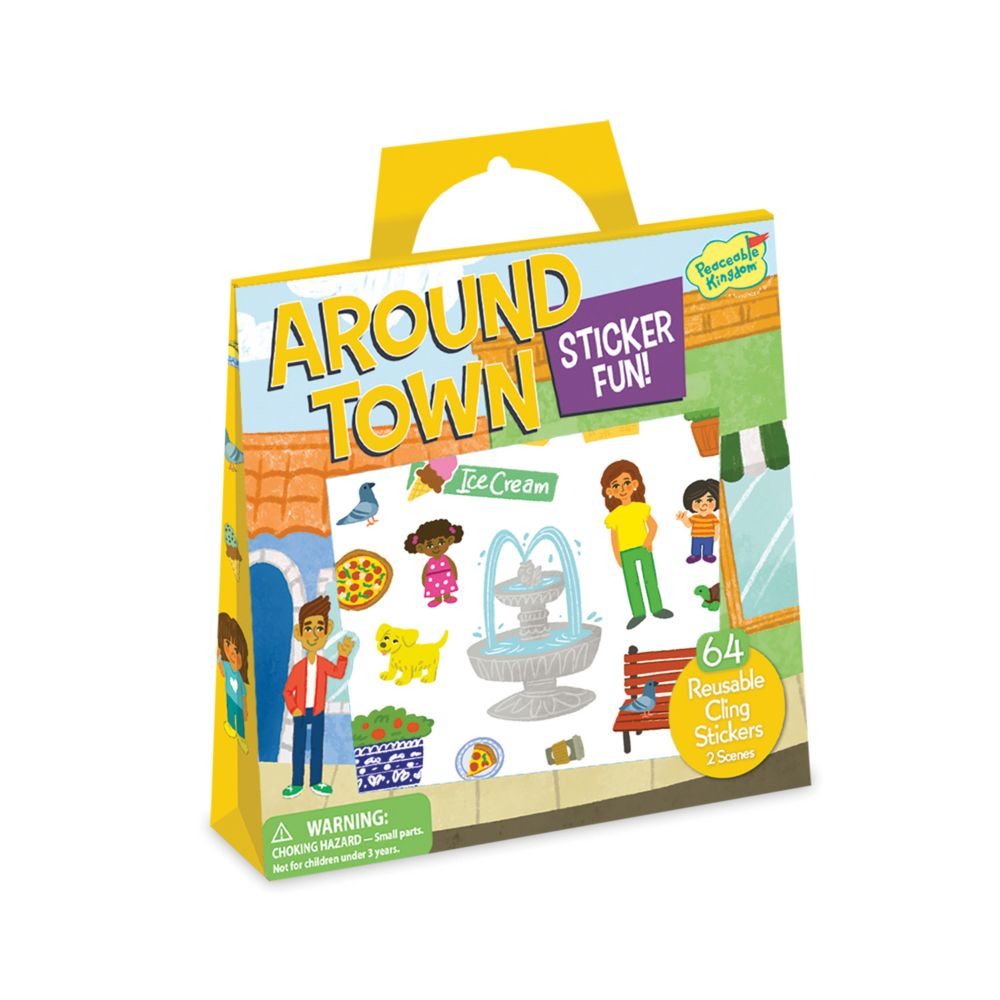 Around Town Reusable Sticker Tote From MindWare