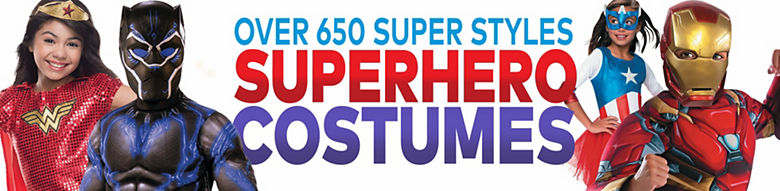 Over 650 Super Styles - Superhero Costumes