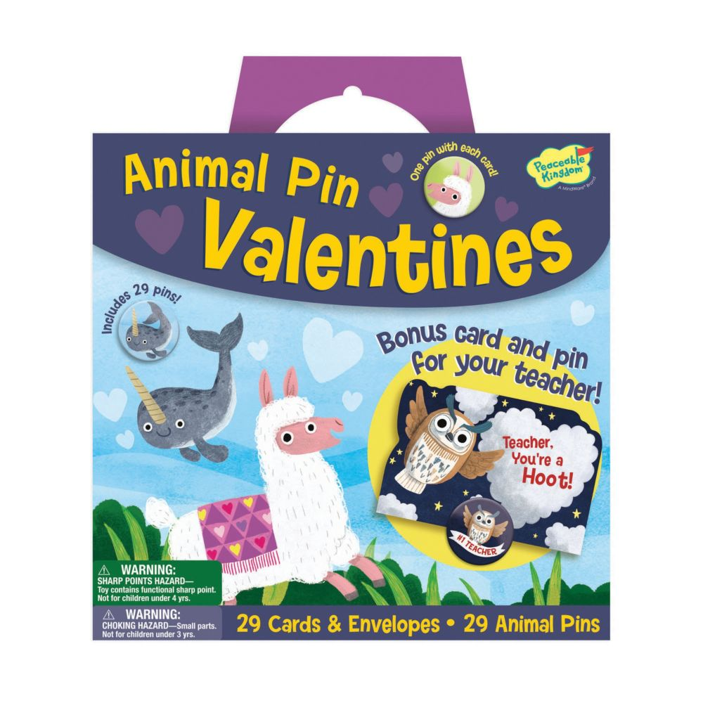 Animal Pin Valentine Pack From MindWare
