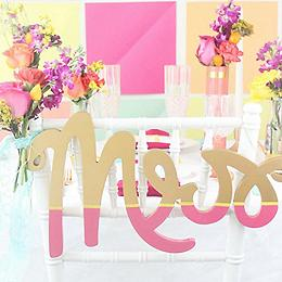 DIY Colorful Wedding Chair Backers